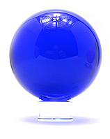 Хрустальный синий шар на подставке