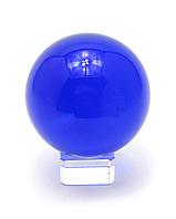 Синий хрустальный шар на подставке