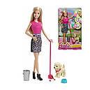 Кукла Барби с собакой Веселая прогулка Barbie Potty Trainin Pup CFN43, фото 3