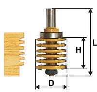 Фреза микрошиповая ПРОФ ф41х47, хв.12мм (арт.46510)