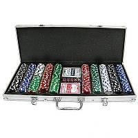 Покерный набор в алюминиевом кейсе на 500 фишек с номиналом N°500N