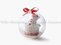 Куля пластиковий для солодощів 268/3 - O8 см - 100 шт.