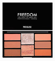 Набор румян и хайлайтеров Freedom Makeup Pro Blush Palette Peach and Baked