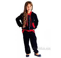 Спортивный костюм Велюр Kids Couture темно-синий 28
