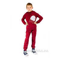 Трикотажный спортивный костюм Шапка Kids Couture бордовый 30