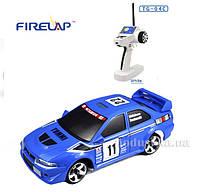 Автомодель радиоуправляемая 1:28 IW04M Mitsubishi EVO 4WD Firelap синий FLP-405G4a