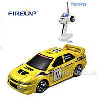 Автомодель радиоуправляемая 1:28 IW04M Mitsubishi EVO 4WD Firelap желтый FLP-405G4y