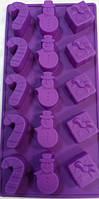 """Форма силиконовая для выпечки """"Снеговик,конфета,подарок"""" Украина - 02477"""