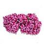 """Венок из цветов: """"шишечки"""" малиновые с зелёными листиками, букетик из 11 соцветий, длина 12 см"""
