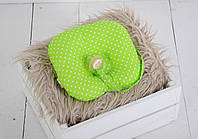 Детская подушка для новорожденных с держателем, салатовая, фото 1