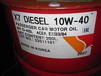 Масло моторное ZIC X7 10W-40 DIESEL (Бочка 200л) 202607