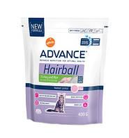 Advance (Эдванс) Сухой корм для котов Hairball, индейка рис 400гр