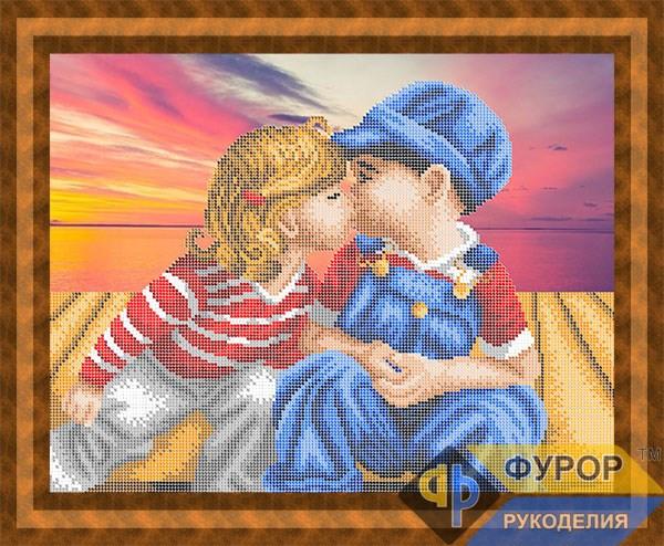 Схема для вышивки бисером картины Первый поцелуй (ЛБч3-041)