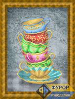 Схема для вышивки бисером - Натюрморт из кружек, Арт. НБч3-101-3