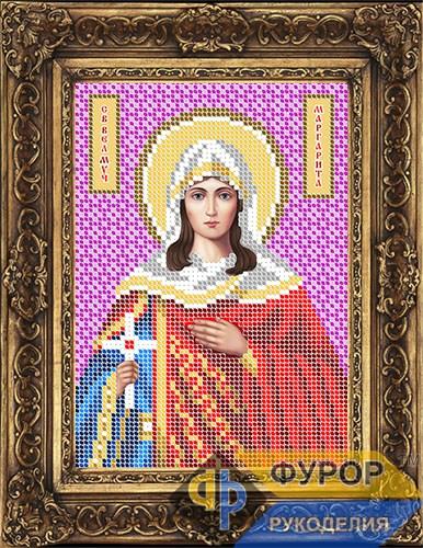 Схема для вышивки бисером иконы Маргарита Святая Великомученица (ИБ5-130-1)