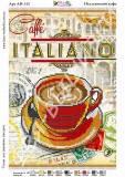Ткань с рисунком для вышивки бисером Итальянский кофе