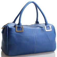 Luminoso borsa blu - Синяя сумочка из кожи.