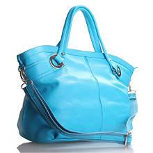 Borsa celeste - Бирюзовая сумочка из кожи.