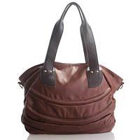 Piegare - Коричневая кожаная сумка для носки на плече.