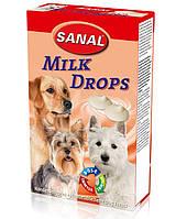 Витамины для собак Sanal Milk Drops «молочные дропсы» 125 грамм