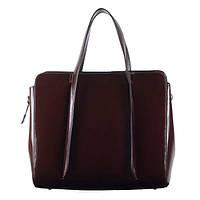 Shine Cioccolato - Шоколадная лаковая сумка.