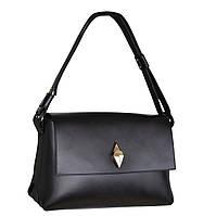 """Fartalla - Черная нарядная кожаная сумка с замочком """"капелька"""""""""""""""