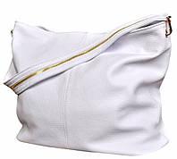 Borsa Purezza - Белая большая классическая сумка из натуральной кожи