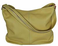 Borsa Senape - Горчичная большая классическая сумка из натуральной кожи