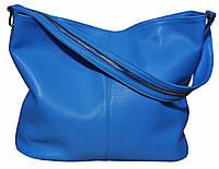 Borsa Turchese - Бирюзовая большая классическая сумка из натуральной кожи