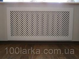 Грати декоративні екрани дерев'яні на батареї опалення. PP01 під замовлення Кріплення в комплекті