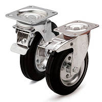 Колеса поворотные с тормозом и площадкой (10 серия)