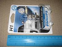 Лампа накаливания H1 WhiteVision 12V 55W P14,5s (+60) (4300K) 1 штуки blister (Производство Philips)