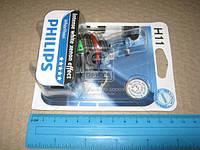 Лампа накаливания H11 WhiteVision 12V 55W PGJ19-2 (+60) (4300K) 1 штуки blister (Производство Philips)
