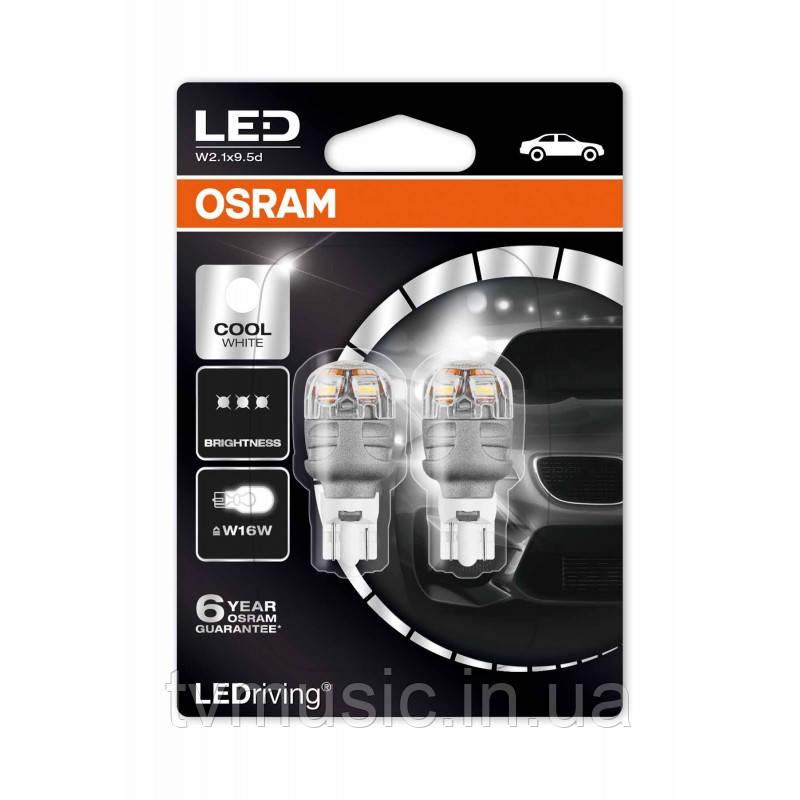 Светодиодные лампы Osram LEDriving Premium W16W (T16) 12V 6000K (9213CW-02B)