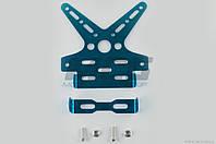 """Рамка для крепления номера и поворотников с регулируемым углом наклона    (синяя)   XJB"""" """""""