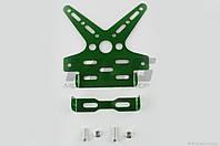 """Рамка для крепления номера и поворотников с регулируемым углом наклона    (зеленая)   XJB"""" """""""