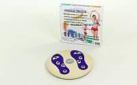 Диск здоровья с магнитами и массажером рефлекторных зон на стопах Грация d-28см  (пластик)