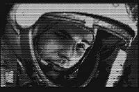 """Панно картина """"Гагарин"""" (декор) из перфорированного металла"""