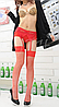 Чулки-сеточка красные, фото 2