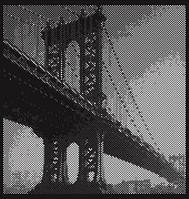 """Панно картина """"Мост"""" (декор) из перфорированного металла"""