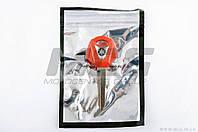 """Ключ замка зажигания (заготовка)   Yamaha JOG   (с эмблемой, длинный, красный)   KOMATCU"""" """""""