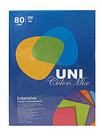 Бумага Uni Color Mix Intensive A4 80г/м 250л (5 цветов) ДЕМИС КАНЦ