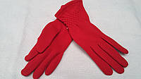 Красные женский перчатки на меху, 7-9 р-ры, 80/65 (цена за 1 шт. + 15 гр.)