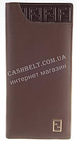 Элитный стильный кошелек купюрница из натуральной качественной кожи  FENDI art. FD79-798C коричневый