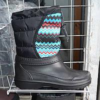 Жіночі зимові чоботи-дутіки на затяжках