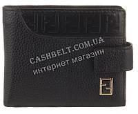 Элитный стильный прочный кошелек с визитницей из натуральной качественной кожи FENDI art. FD79-594A черный, фото 1