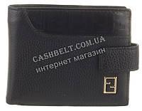 Элитный стильный прочный кошелек из натуральной качественной кожи FENDI art. FD79-1077A черный, фото 1