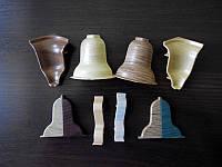 Комплектующие к плинтусу напольному угол внутренний,наружный,заглушки,соединители