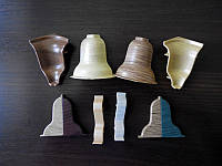 Комплектующие к плинтусу напольному угол внутренний,наружный,заглушки,соединители, фото 1