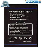 Батарея (АКБ, аккумулятор) Doogee B-DG550 для Doogee DG550 Dagger (2600 mAh), оригинальный